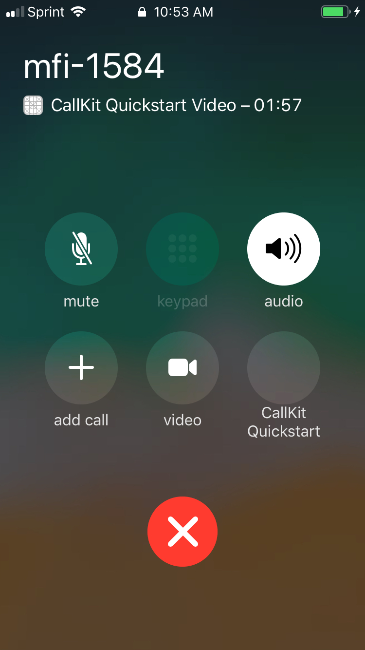 Disconnected from room at 1:30 when answer via CallKit and