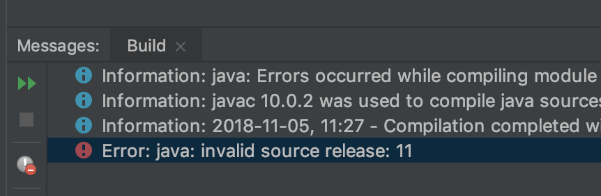 java invalid source release 10