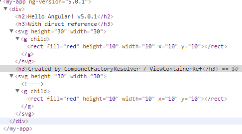 SVG component rendered through ComponentFactoryResolver