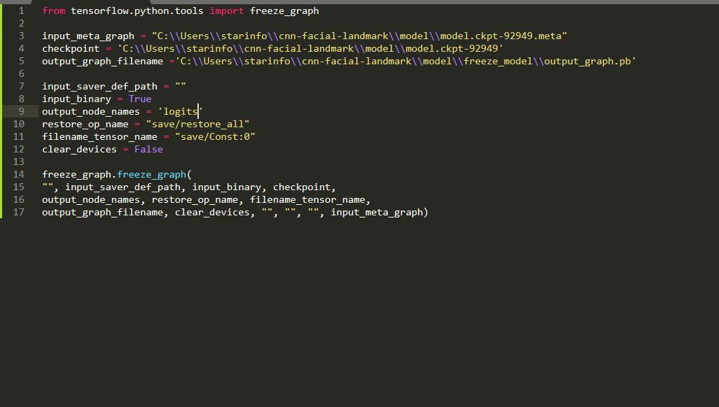 Generate frozen model  pb from ckpt files · Issue #7066 · tensorflow