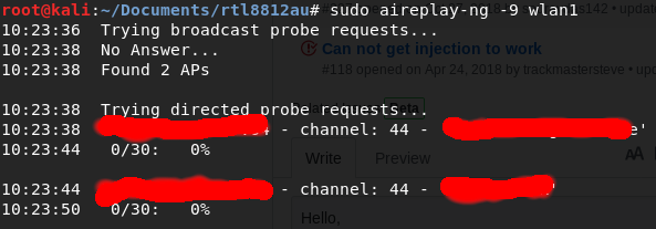 Paquet Injection not working · Issue #348 · aircrack-ng