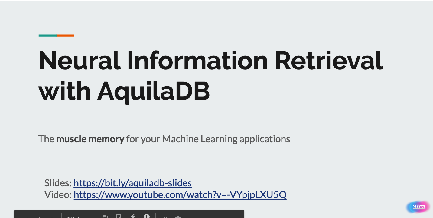 introduction to Neural Information retrieval with AquilaDB