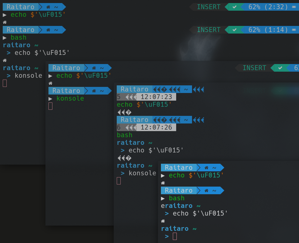 screenshot attached) Glyph not showing up on terminal · Issue #1258