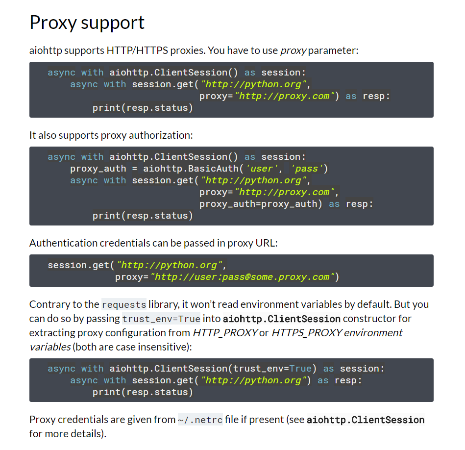 Async Proxy Pool