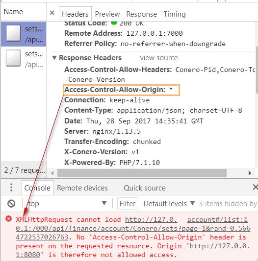 Get Call Failing Access Control Allow Origin Issue 652