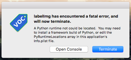 labelImg crashes at launch when installed as an app on macOS
