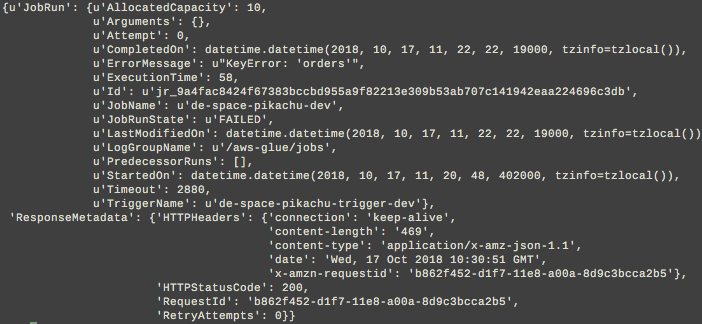 Glue SDK get_job_run returns job Log Stream Name · Issue