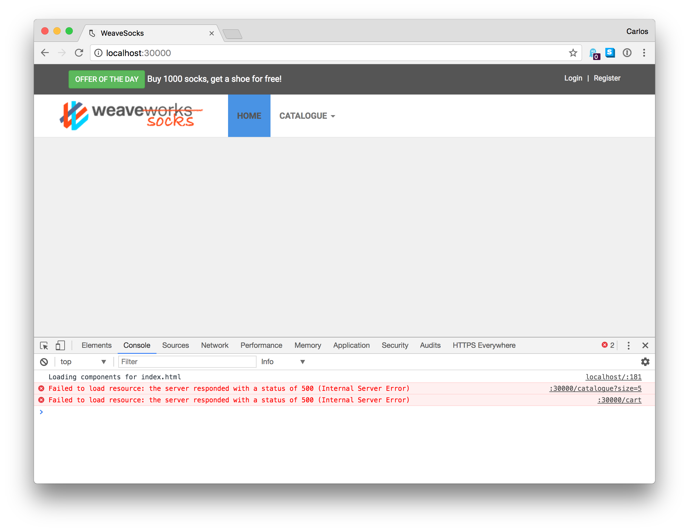 Sock Shop deployed to Docker Swarm does not work · Issue