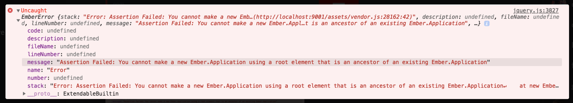 ember application root element