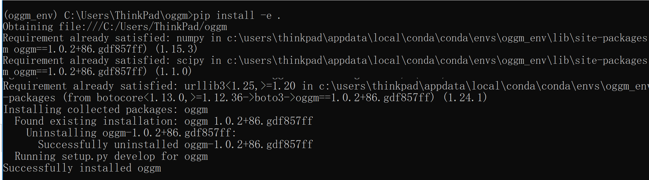 Install OGGM failed in winodws10, Anaconda (python 3 6