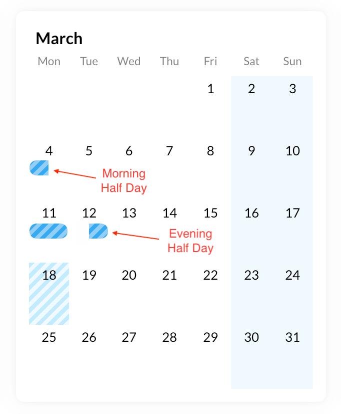 Fullcalendar half day events · Issue #4701 · fullcalendar