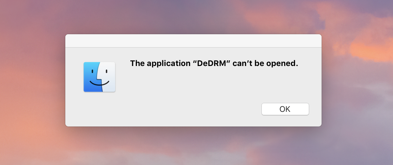 DeDRM Macintosh Application does not work · Issue #505