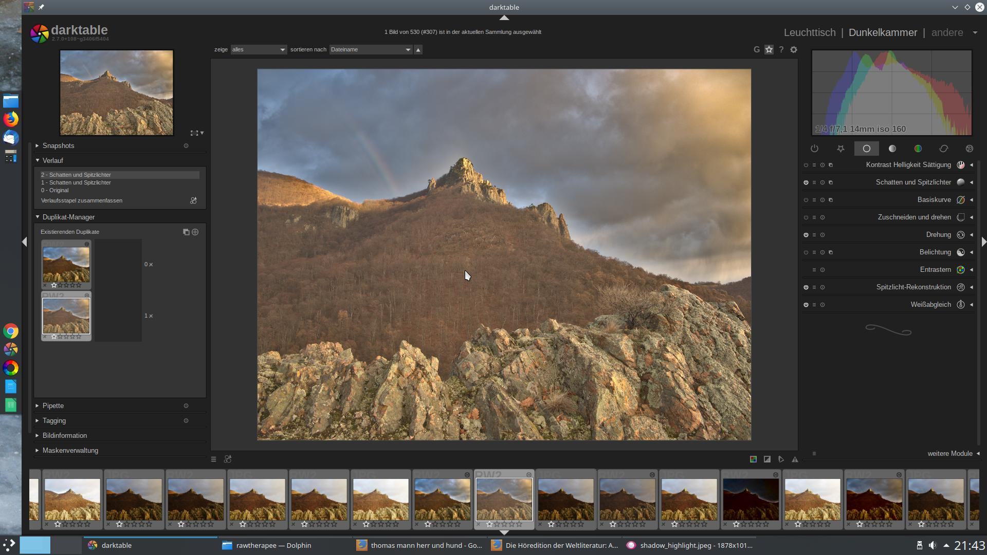 Highlights and shadows recovery like in rawtherapee · Issue #2056