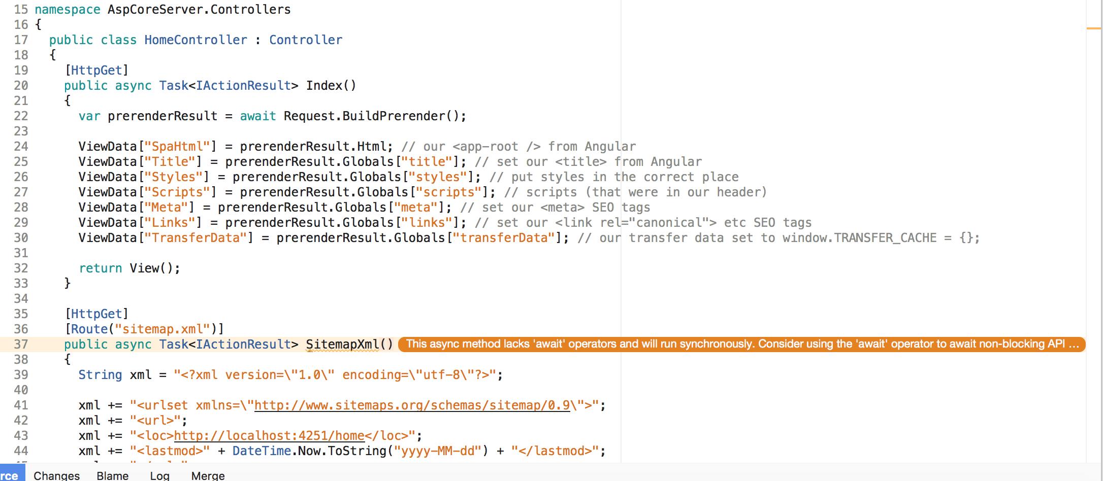 slight fix for visual studio community mac issue 607