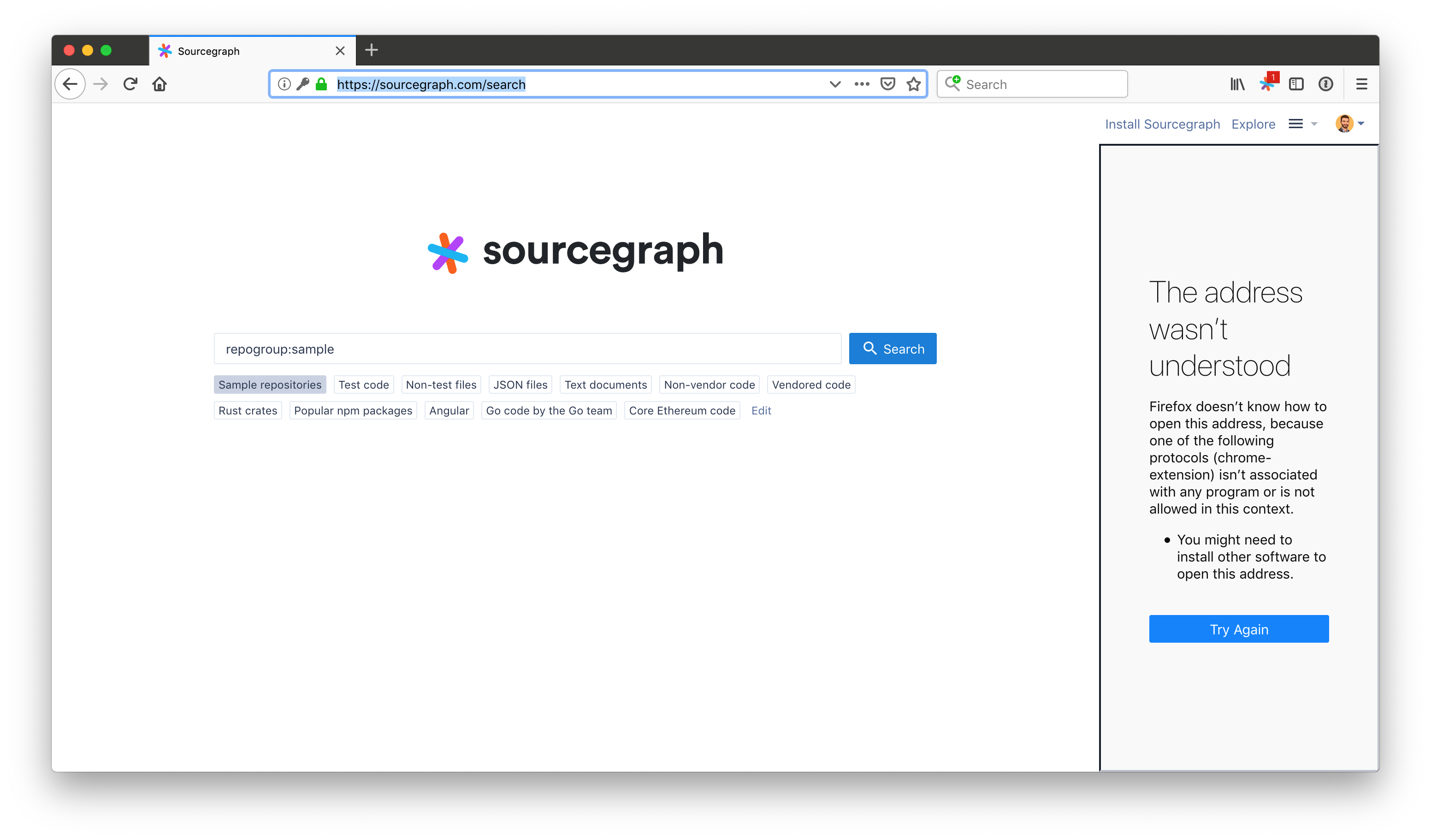 Empty iframe displayed on some pages · Issue #1118 · sourcegraph