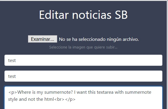 deprecated) summernote example with php · GitHub