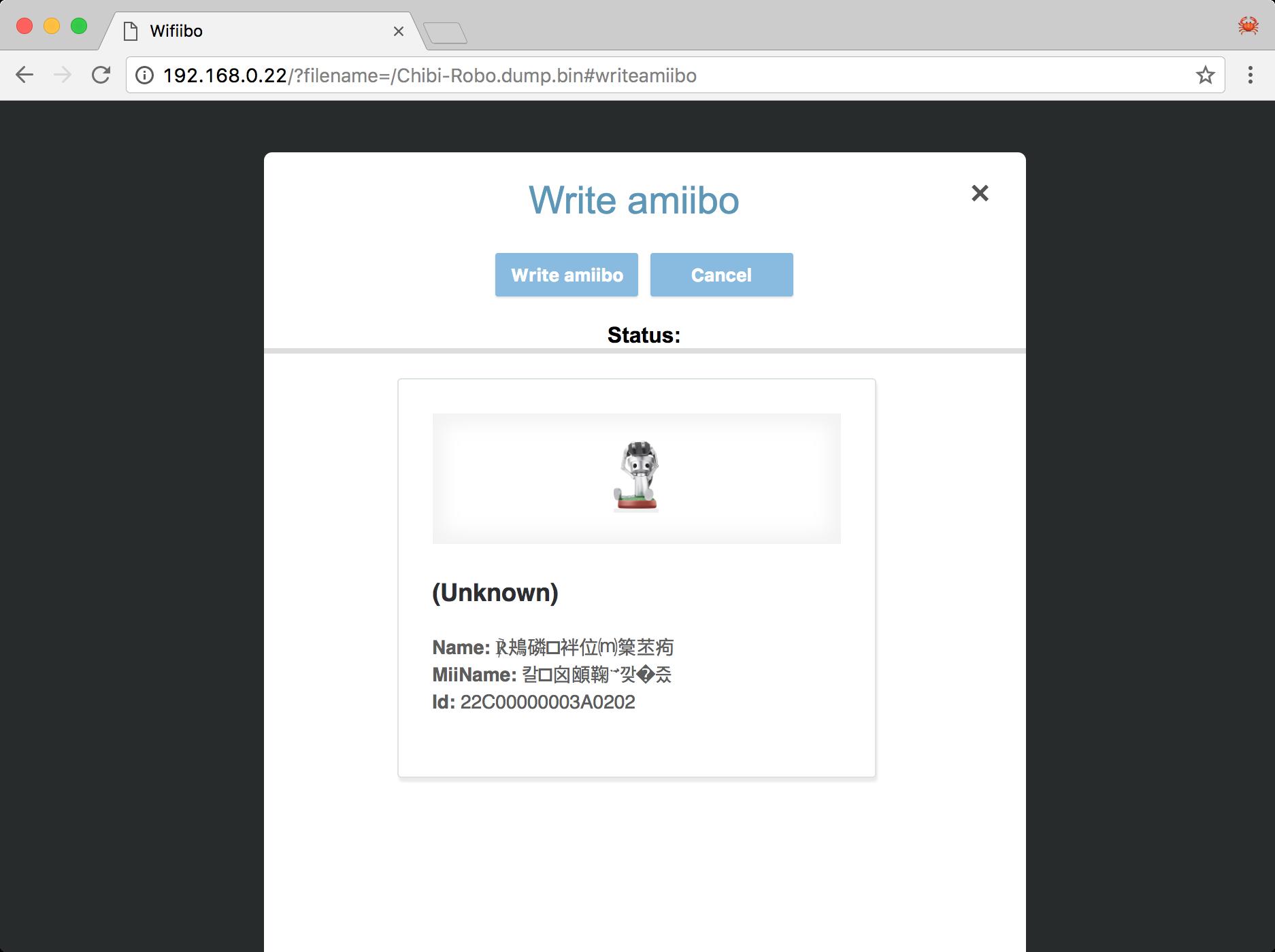 Can't read or write an amiibo · Issue #1 · Xerxes3rd/Wifiibo