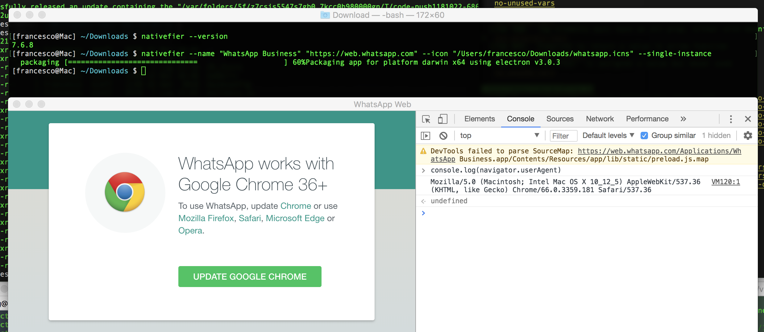 WhatsApp Web stopped working around 2018-11-30 - Asks for Google