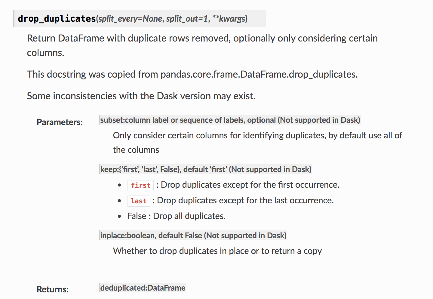 can't drop duplicated on dask dataframe index · Issue #2952