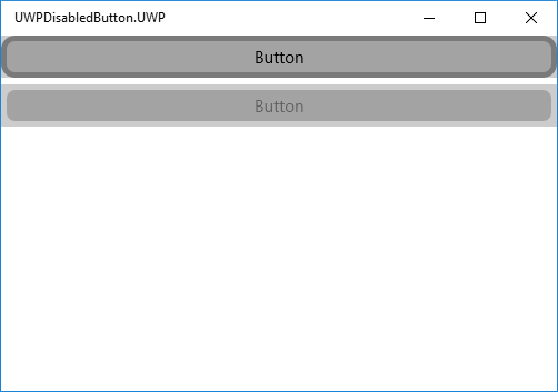 Border and CornerRadius are not respected in UWP when button is