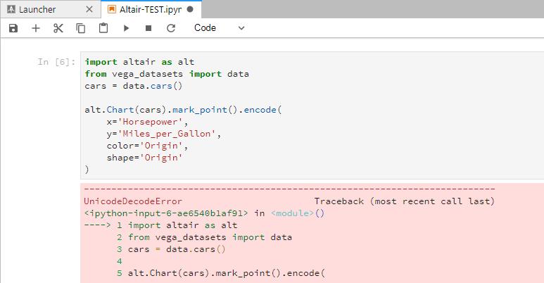 UnicodeDecodeError when importing · Issue #600 · altair-viz