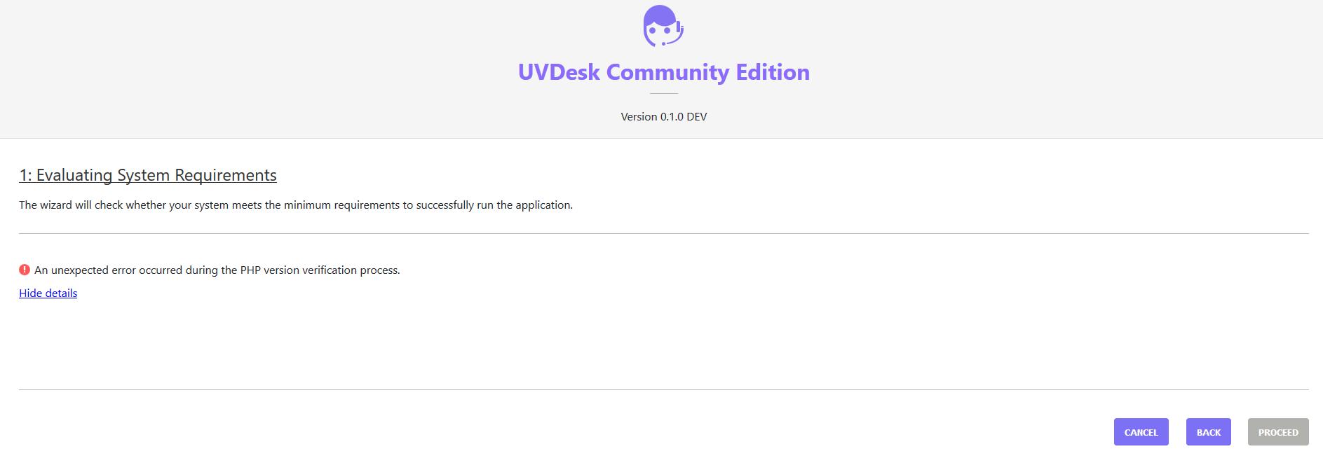 Error on install · Issue #143 · uvdesk/community-skeleton