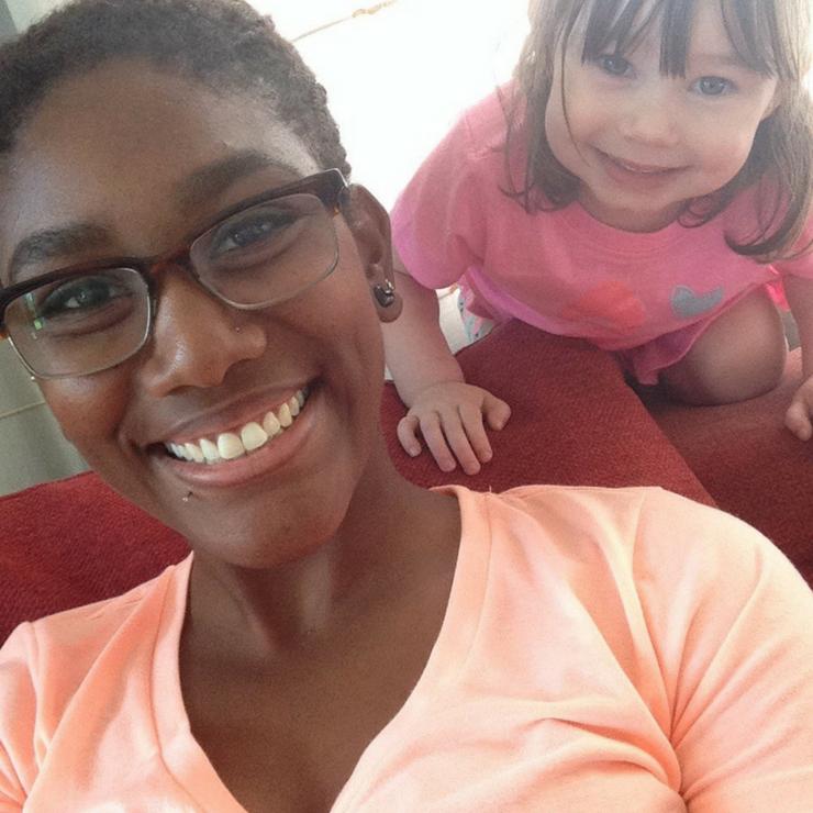 Kyelaya enjoying her time as an au pair