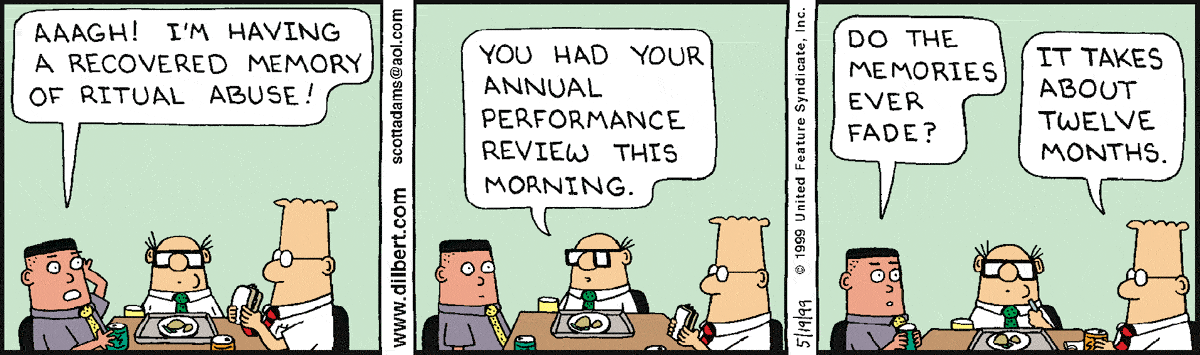 Dilbert on performance reviews