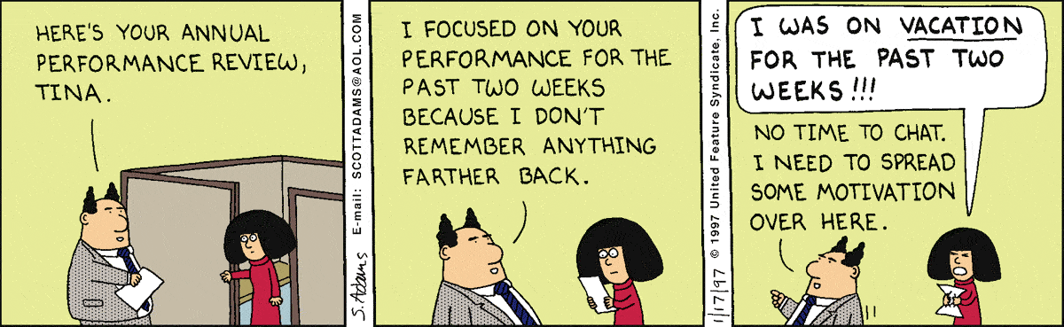 Dilbert on reviews