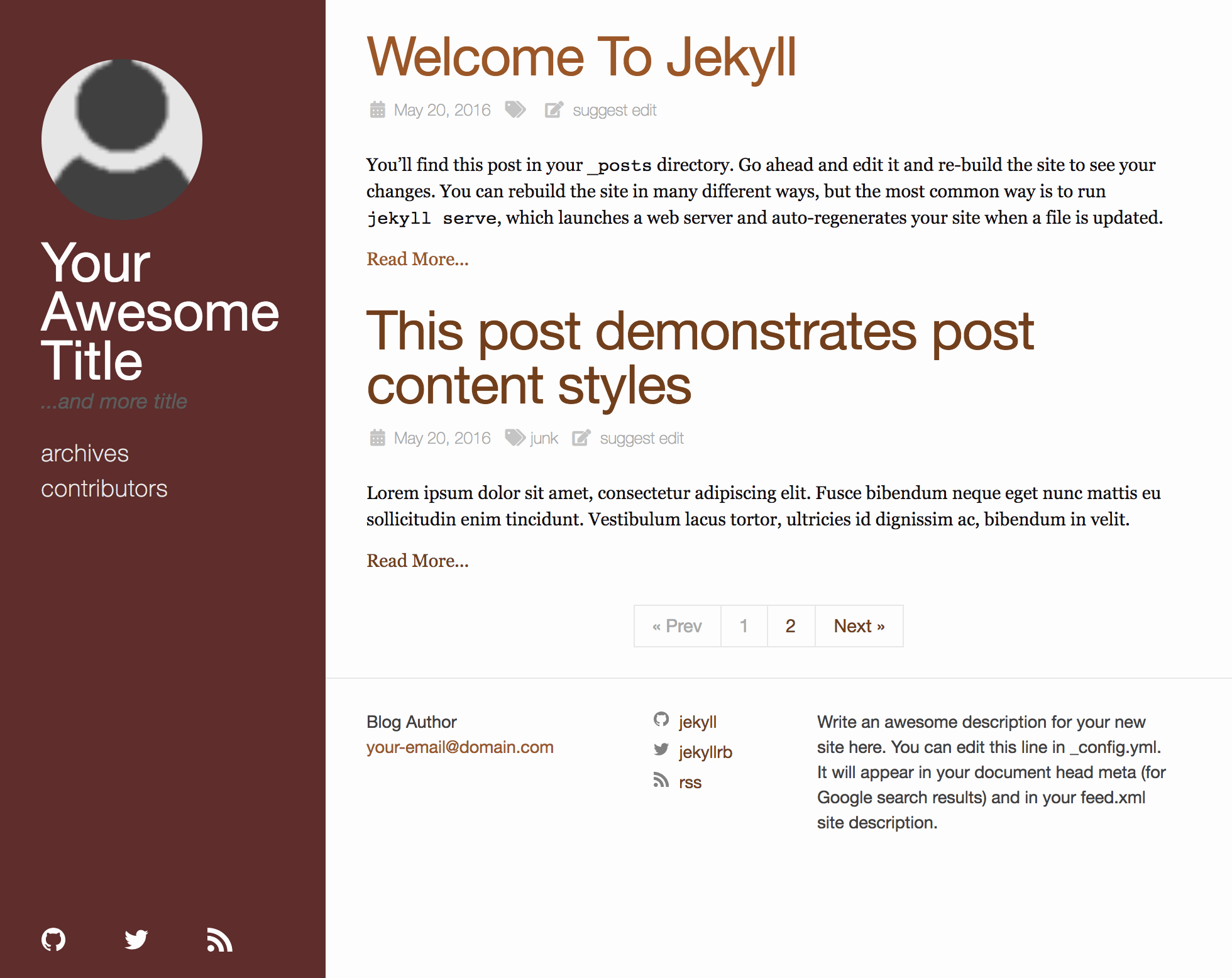 The haackbar Jekyll theme