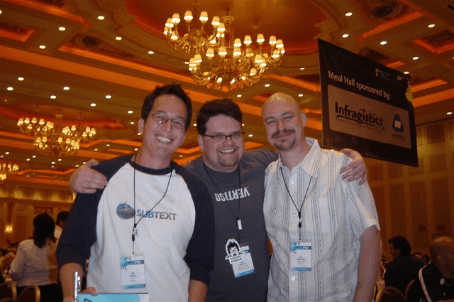 Left to right, Me, Jeff Atwood, and Jon Galloway