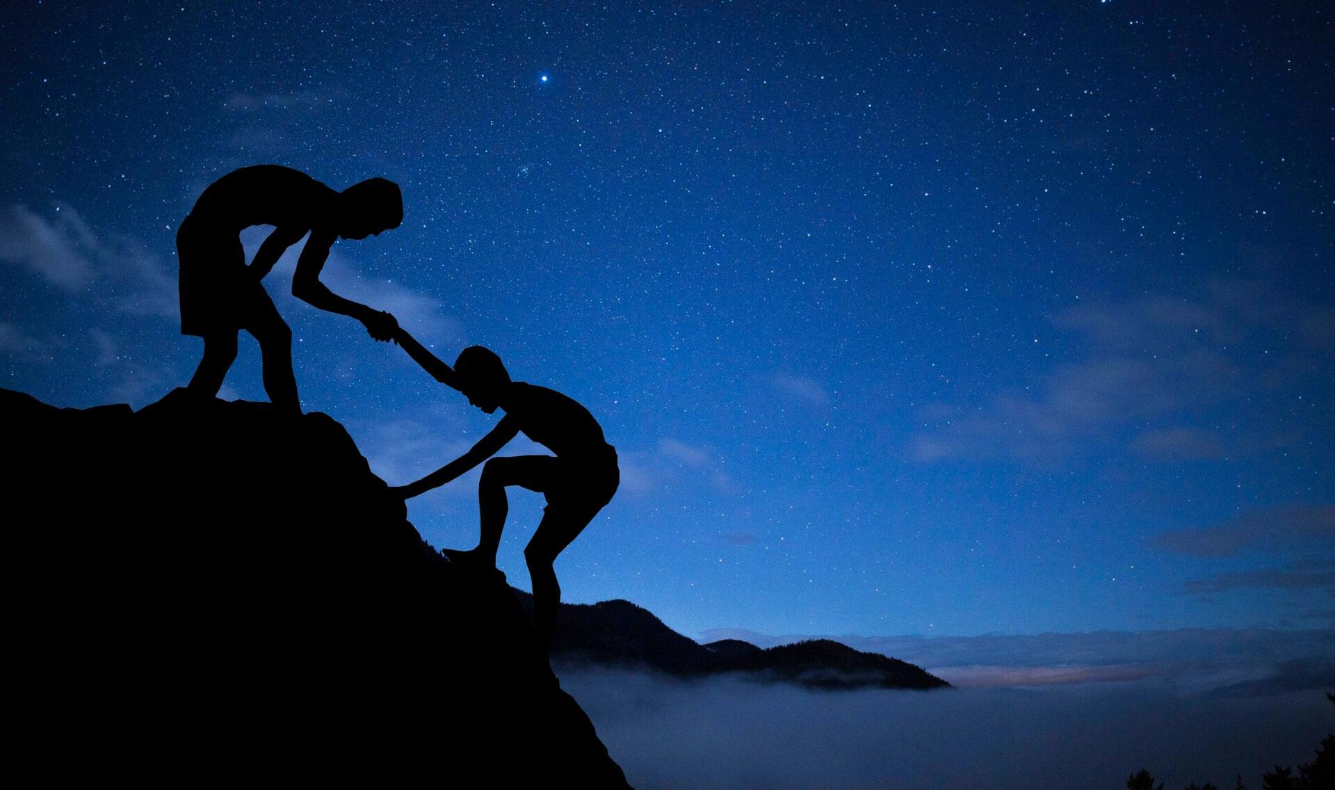 Lending a hand while climbing