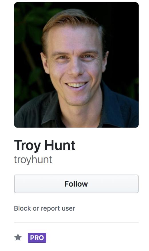 @troyhunt on GitHub