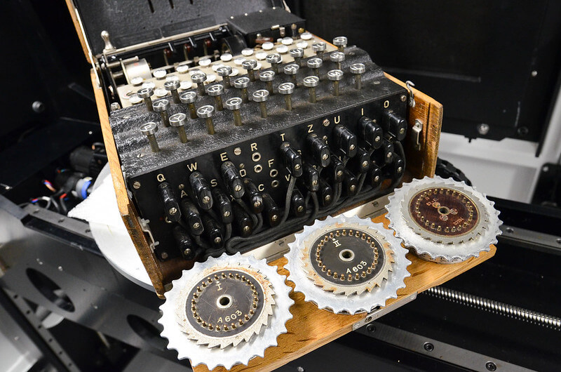 Photo of an Enigma machine