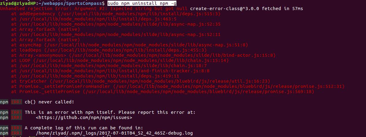 Uninstalling Causes Failure on Ubuntu · Issue #17553 · npm/npm · GitHub