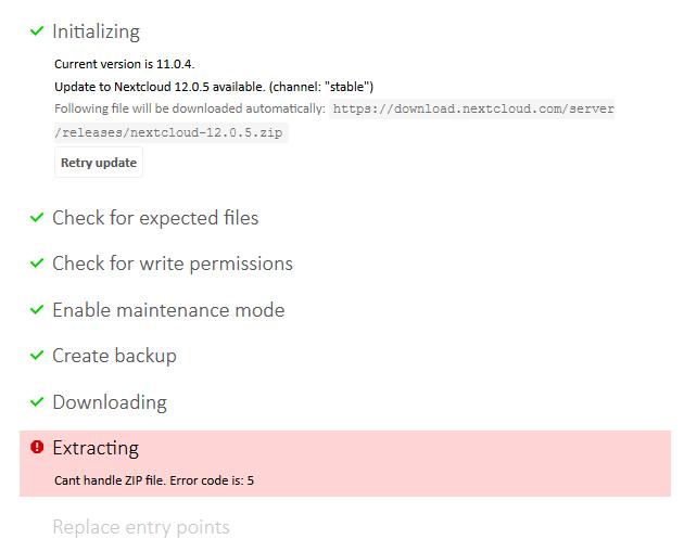 Error extracting zip file · Issue #135 · nextcloud/updater
