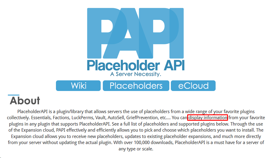 PlaceholderAPI Placeholders automatically registered to each
