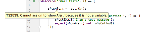 IDE shows error while mocking a module function but Jest run