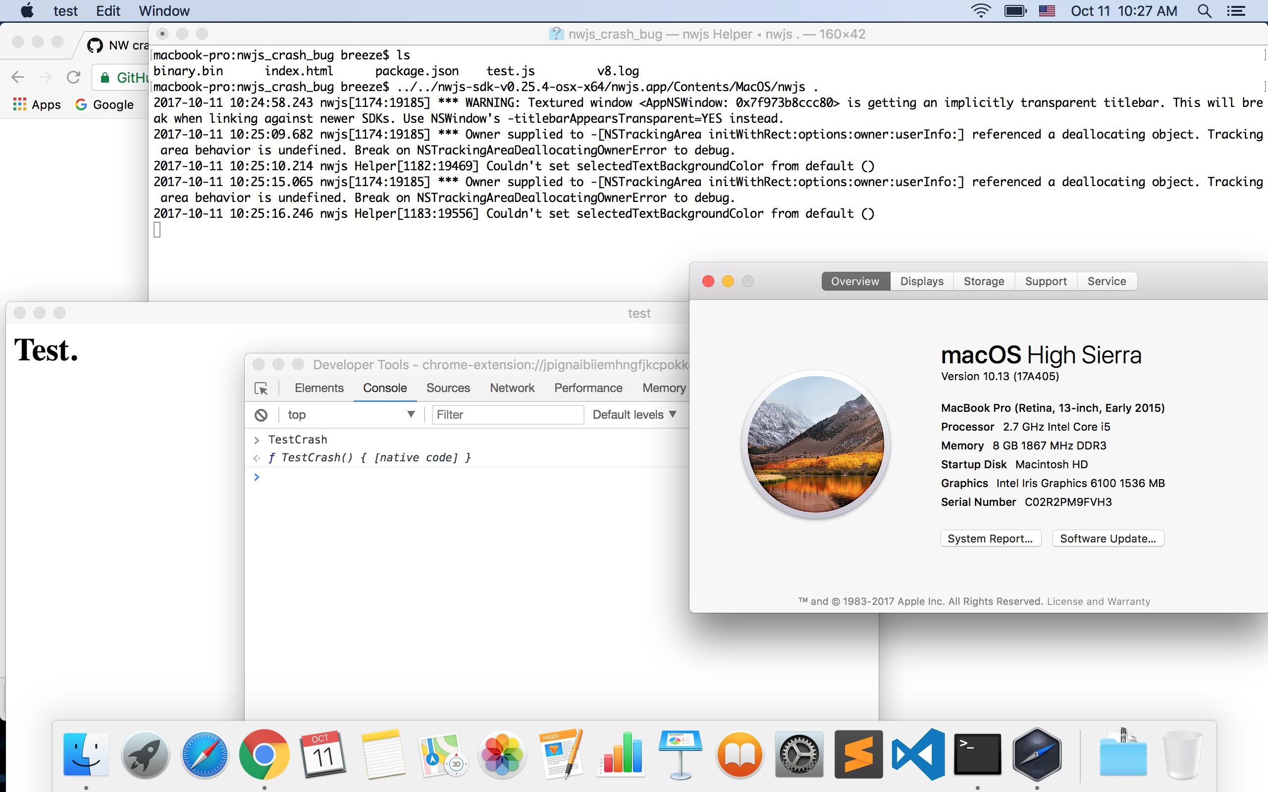 NW crash when do debugging on NWJC snapshot · Issue #6160