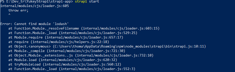 strapi start is not a function · Issue #3322 · strapi/strapi · GitHub