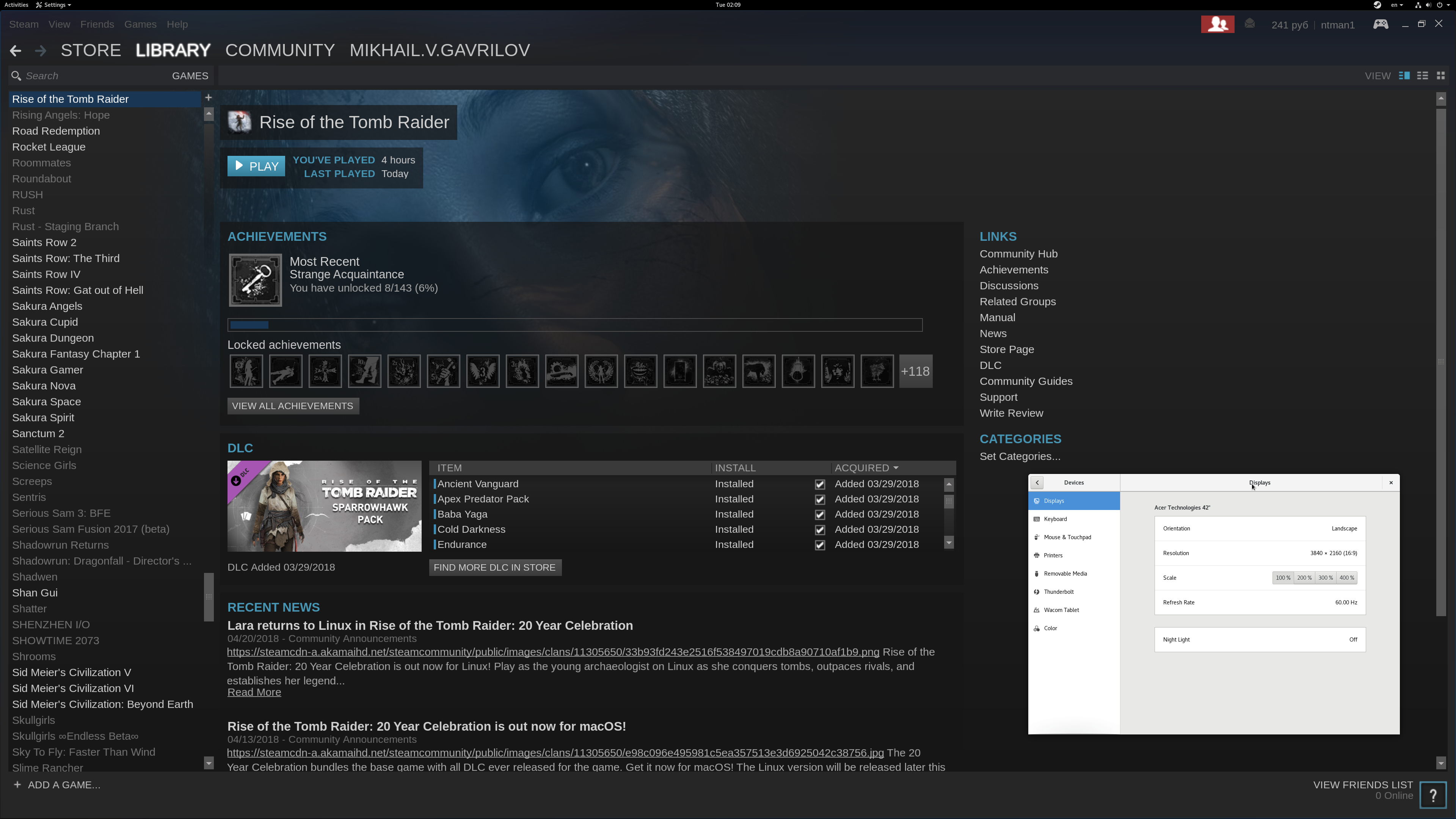 Steam client does not use Gnome's scaling setting · Issue