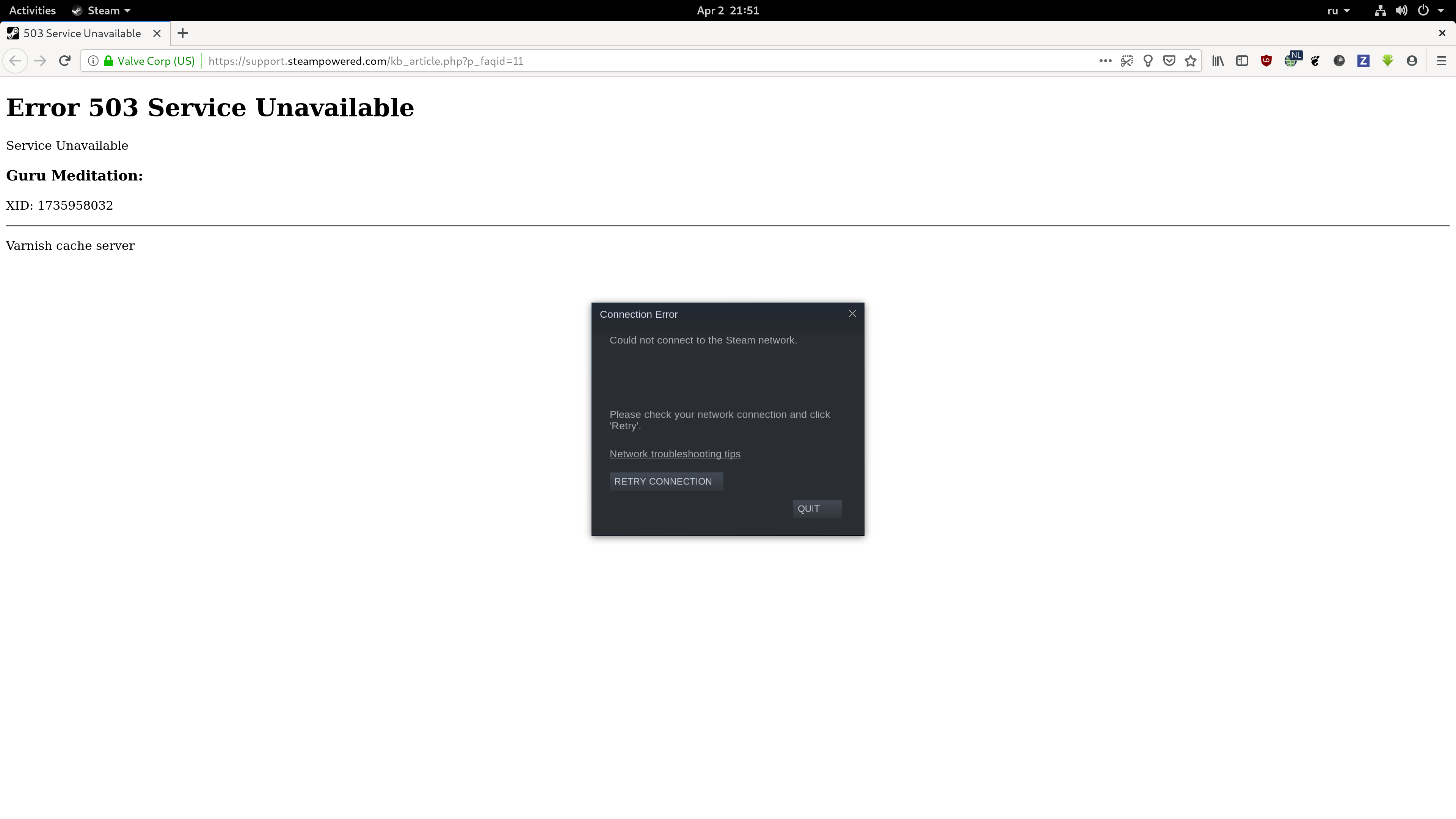When steam network unavailable why not let enter offline? · Issue