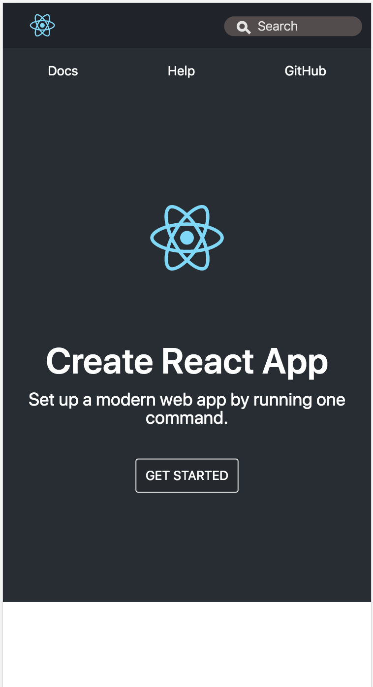 Show logo for mobile views in create-react-app dev by GrooChu · Pull
