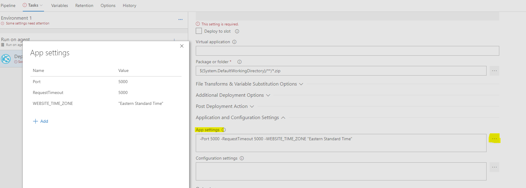 Azure Function deploy fails with The user name or password