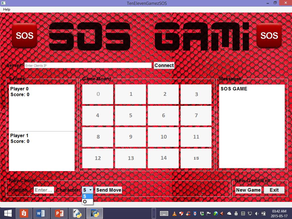GitHub - Sibabalwe-Qamata/SOS-game: SOS Game developed using