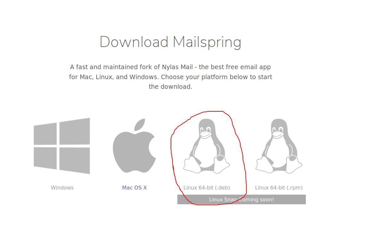 Linux download links not working on https://getmailspring com