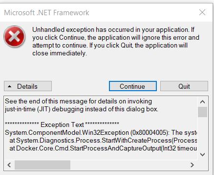 Window Docker won't start properly after upgrade · Issue