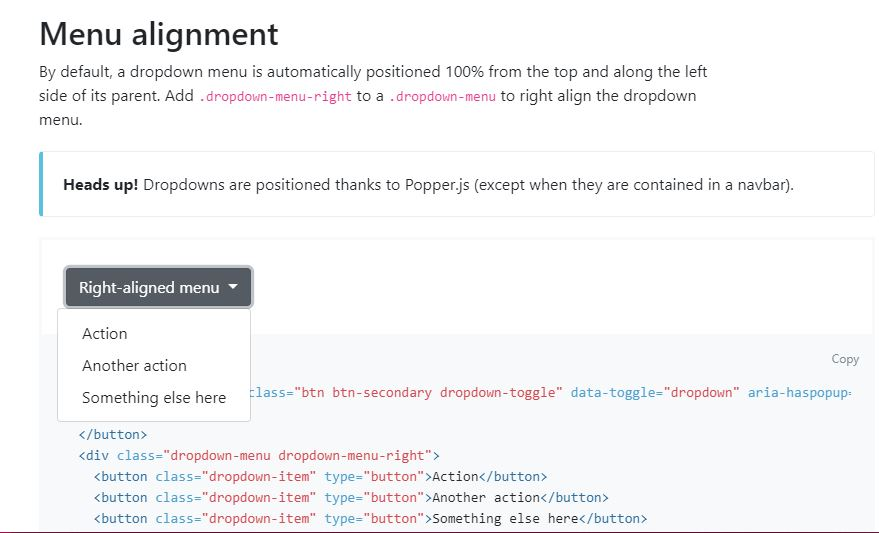 Support for Dropdown menu alignment · Issue #3269 · ng