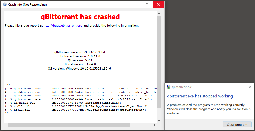 Qbittorrent not responding windows 10 | Windows 10 is crashing