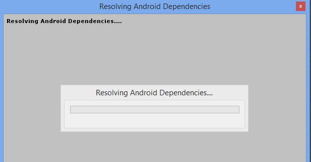 Resolving Android Dependencies Freezes and Fails · Issue